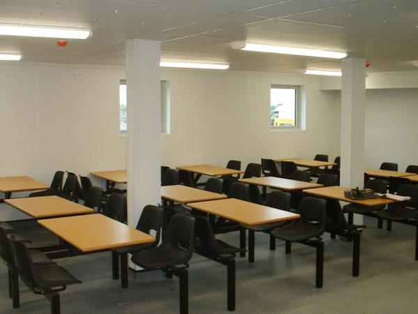 Blast resistant building interior