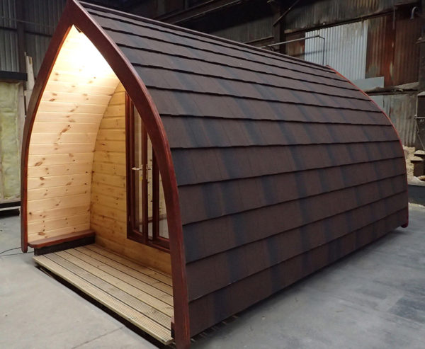 Timber glamping pod manufacture